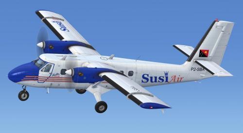 Susi Air - DHC-6 Series 100 Wheels