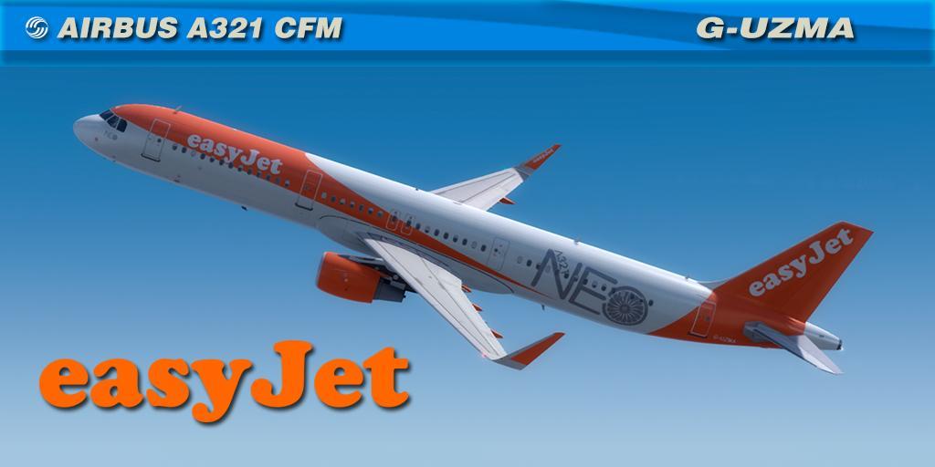 Easyjet G-UZMA NEO Aerosoft A321 CFM Professional