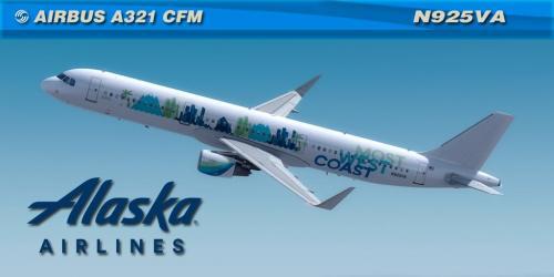Alaska N925VA Most West Coast Aerosoft A321 CFM Professional