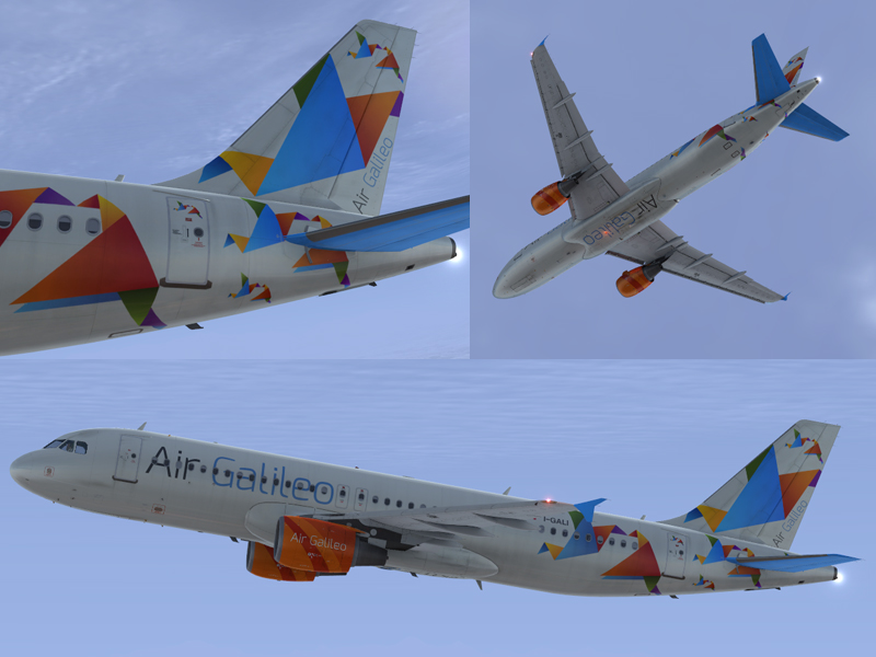 Colors of airbus a320 cfm air galileo i gali clean and dirt