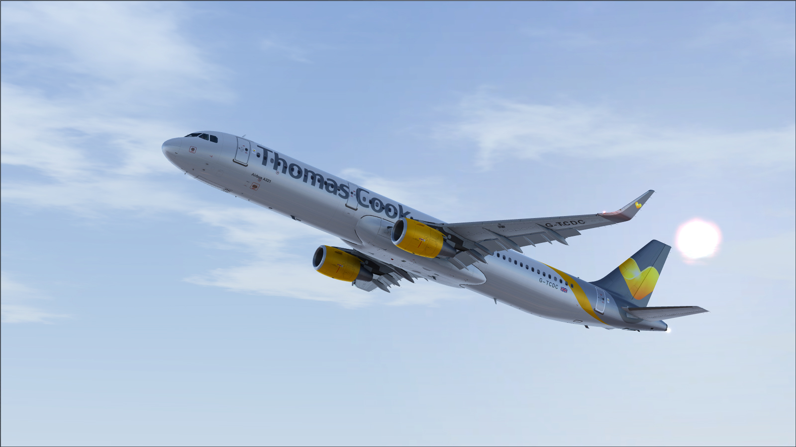 Airbus A321 CFM Sharklet Thomas Cook Sunny Heart G-TCDC - Airbus