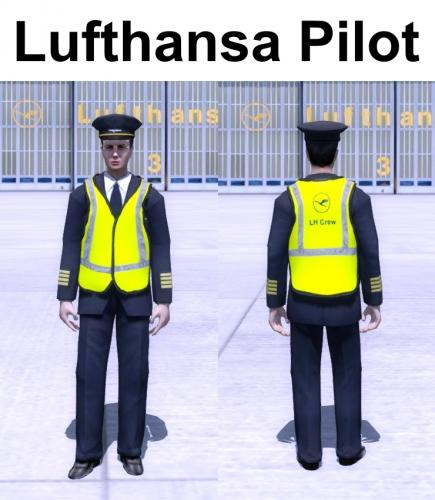 Screenshot for Prepar3D V3 Avatars - Lufthansa Pilot, First Officer & Senior First Officer