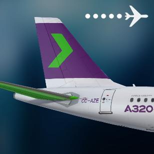 SKY A320neo CC-AZE