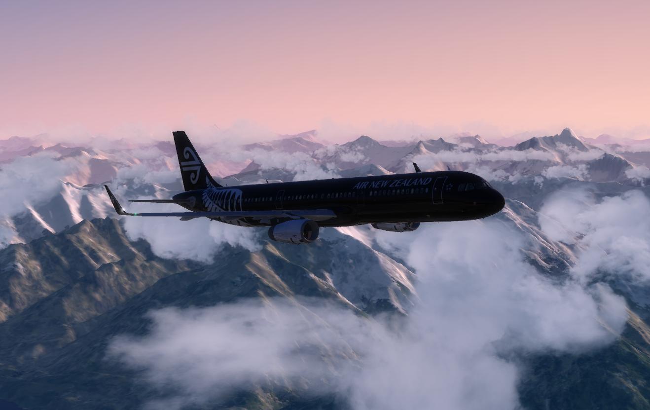 Air New Zealand Airbus A321 ZK-NNA Repaint | Aerosoft A321