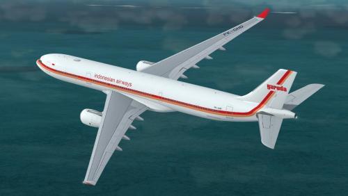 Garuda Indonesia A330-343 PK-GHD (Retro 1969-1985 cs)